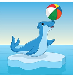 Sea calf vector image