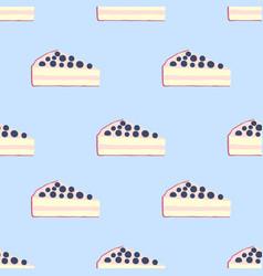 Seamless pattern of cakes pies - yogurt cream vector