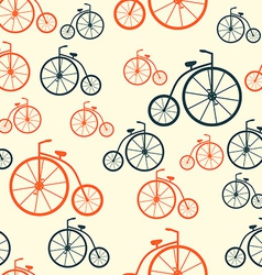 Seamless Pattern with Retro Bicycle Background vector image