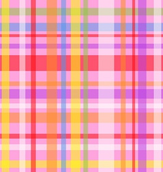 Seamless plaid pattern-pink vector image