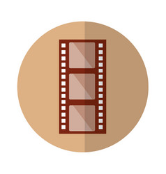 Tape film record isolated icon vector