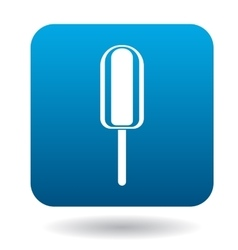 Popsicle ice-cream icon simple style vector image