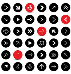 Arrows Set Circle Arrows Application Icons vector image