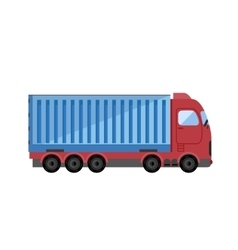 Container truck icon vector