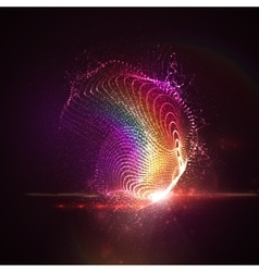 3d illuminated neon digital splash vector