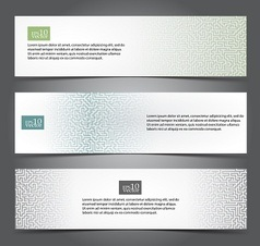 Maze web banners vector