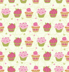 Cupcakes seam vector
