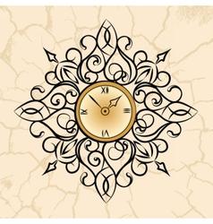 Classic style circular clock vector