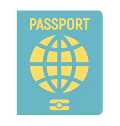 passport flat icon travel and citizenship vector image