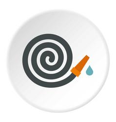 Garden hose icon circle vector
