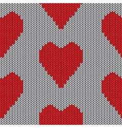 Knitted heart valentine day holiday handmade seaml vector