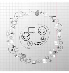 Doodle design set concept for cooperation vector