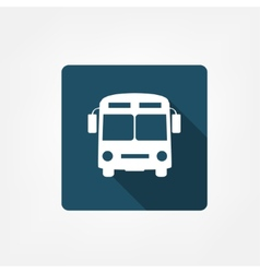 Bus stop icon vector