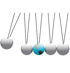 newtons cradle vector image