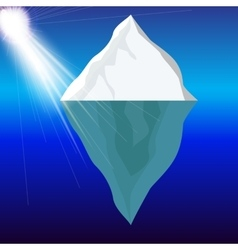 Cold iceberg in ocean under sun shine vector