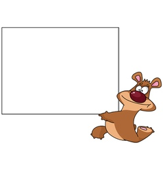 Bear with blank vector
