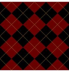 Black royal red diamond background vector