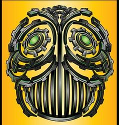 Cyber techno digital robot face design vector image