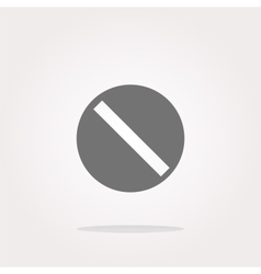 Not allowed sign web icon button isolated vector