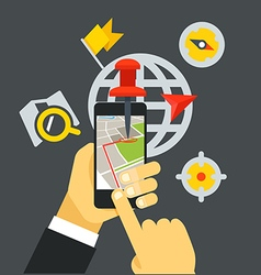 Transportation application concept flat design vector
