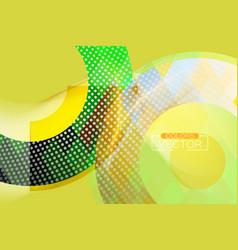 Abstract green concepts circular shape scene vector