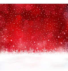 Abstract red Christmas snow background vector image