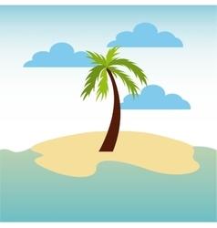 beach landscape vacations icon vector image vector image