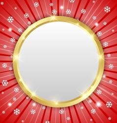 Christmas winter plaque vector image vector image