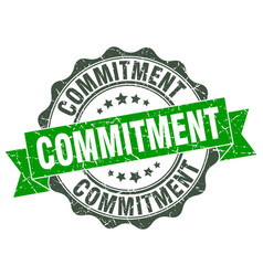 Commitment stamp sign seal vector