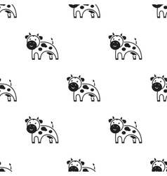 Cow icon black single bio eco organic product vector