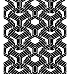 Endless monochrome symmetric pattern graphic vector image vector image