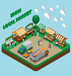 farm products market composition vector image