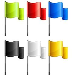 Flag rectangular vector