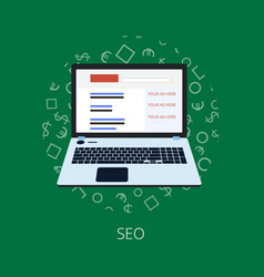 flat design seo optimization vector image