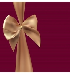 Gift card with silk ribbon and bow vector