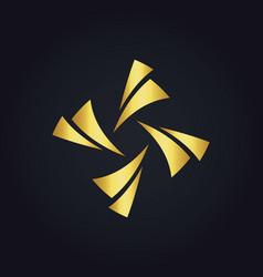 Gold circle colorful shape logo vector