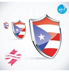 I love puerto rico flag vector