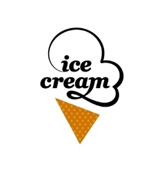 Ice cream logo vector image