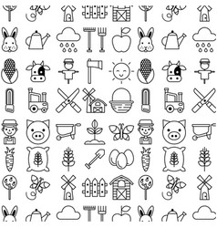 Icons set object animal vector