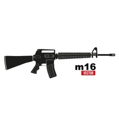 M16 rifle vector image