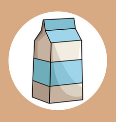 Milk box healthy fresh image vector