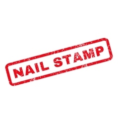 Nail stamp rubber stamp vector