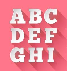 Paper alphabet A-I vector image