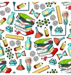 Physics and chemistry seamless pattern vector image