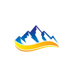 rocky mountain wave logo vector image