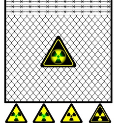 second mesh fence vector image vector image