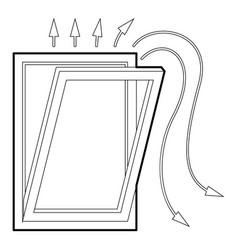 Window ventilation icon outline style vector