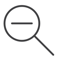 zoom out line icon web and mobile magnifying vector image