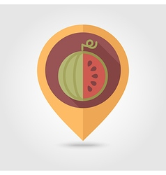 Watermelon flat pin map icon fruit vector