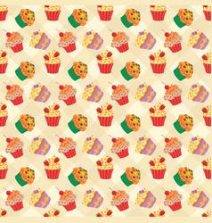cupcakes seam2 vector image
